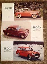 Rara Pubblicità SKODA Felicia Hardtop/Oktavia/Station Wagen 1959