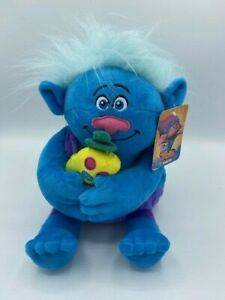 "DREAM WORKS TROLLS Guy Biggie Blue Troll Soft Plush Toy Cuddling Approx 10"" NEW"