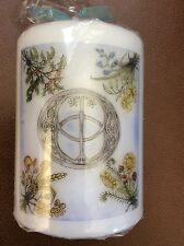 Chalice Well 10cm Pillar Candle with Beautiful Artwork. Pagan. Glastonbury
