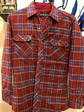 VTG Northwest Territory Rust Plaid Flannel Shirt Size Small Quilted Lined 80s