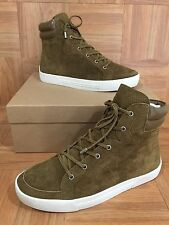 NIB!❤️ JOIE Devon Sneaker Peridot Green Perrforated Suede Leather MSRP $275