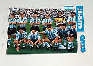 FRANCE 98 FIFA World Cup Football Soccer Onze Mondial Argentine Team Photo Card