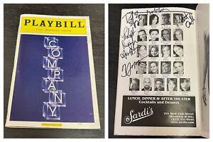 COMPANY Nov 2006 SIGNED Broadway Playbill! RAUL ESPARZA Opening Night BCEFA