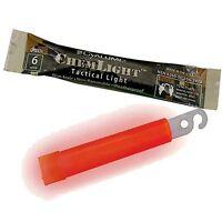 """Pack of TEN 6 Hour 4"""" Military ChemLight (10cm) Red lightstick Cyalume Branded"""