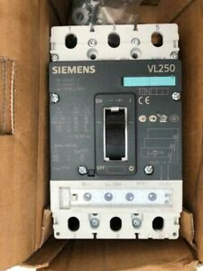 SIEMENS VL250N CIRCUIT BREAKER WITH ELECTRONIC TRIP RELEASE 250A 3P