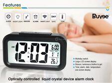 LCD Alarma Reloj Despertador Digital con Dormitar Calendario Temperatura Sensor