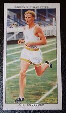 Middle Distance Runner   1500 metres Champion  Lovelock   Original Vintage Card