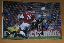 AUTOGRAFO Dennis Bergkamp INTER Autografato Arsenal Foto: Il Leicester TRIPLETTA
