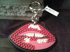 NWT Coach F59000 Studded Lips Bag Charm Key Ring Fob Pink $80