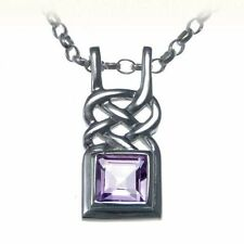 Chain Amethyst Sterling Silver Fine Necklaces & Pendants