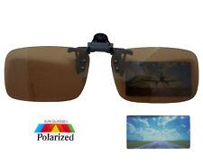Sonnenschutz Brillen Aufsatz Clip-on POLARISIERT Überbrille Braun inkl. Etui