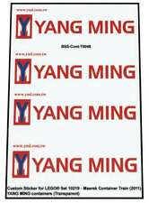 Precut Custom Stickers voor Lego Set 10219 - Maersk Train - YANG MING Containers