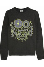KENZO Monster metallic cotton-blend sweatshirt