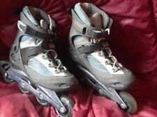 salomon dr 120 inline skates xt 78A 80mm men's 10 blue/grey power arch