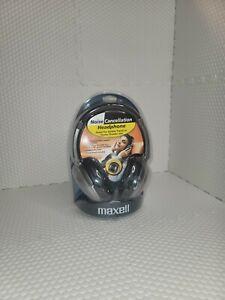 Maxwell HP/NC-II Noise Cancelling Headphones Black & Silver w/Bag MAX190400