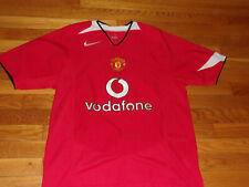 NIKE MANCHESTER UNITED SHORT SLEEVE SOCCER JERSEY MENS SMALL NICE CONDITION