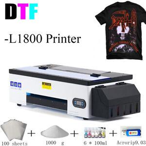 2021 L1800 DTF Printer A3 Bundle with Inks Powder Digital Transfer Film Acrorip