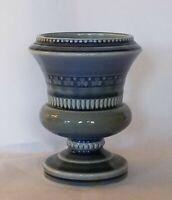 """Vintage Wade Irish Porcelain Urn Vase Footed Blue Green Shamrock Ireland 4.5"""""""