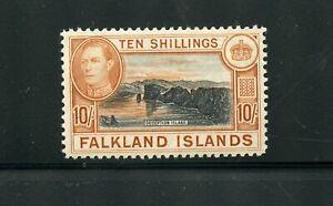 FALKLAND ISLANDS  10/ SCOTT #95  MINT NEVER HINGED TONING ON RIGHT SCOTT $100.00
