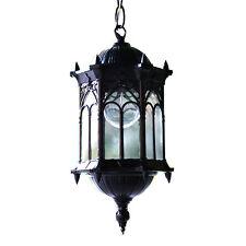 AntiqueOutdoor Ceiling Hanging Pendant Light Porch String Fixture Black Exterior