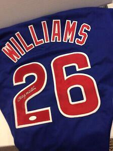 Billy Williams Chicago Cubs Autographed Custom Jersey MLB Baseball W/JSA COA