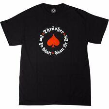 Thrasher Magazine NEW OATH LOGO Skateboard Shirt BLACK MEDIUM