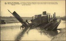 WWI Sinking Destroyed Ships Zeebrugge Belgium INTREPID & IPHIGENIR Postcard