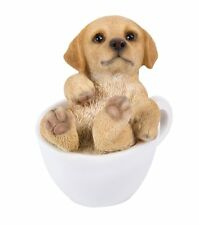 Lovely Golden Retriever Goldie Puppy Dog Teacup Pet Pal Mini Figurine Statue
