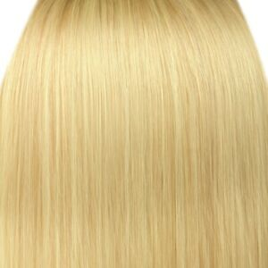 """Clip in Hair Extensions Light Blonde Straight 22"""" Full Head 8 Pcs 150g Synthetic"""