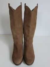 e74cec1ea Sam Edelman Lara Brown Suede Leather Tall Western Riding Boot Women s Size  8.5