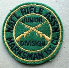 Vintage NAT'L RIFLE ASSN Patch - Junior Division Marksman 1st CL