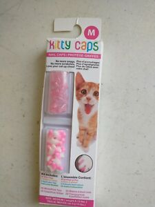 Kitty Caps Cat Nail Caps 40 Clear Size Medium white/pink ,clear/pink glitter