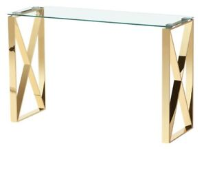 Ningbo Gold Black Glass Console Table