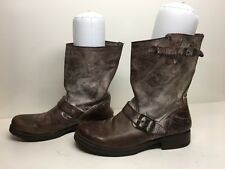 VTG WOMENS FRYE ENGINEER LEATHER DISTRESSED BROWN BOOTS SIZE 8.5 W?