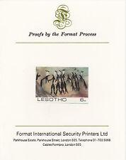 Lesotho 4219 - 1983 ROCK DIPINTI HUNGARIAN SU CARTA FORMATO PROVA internazionale
