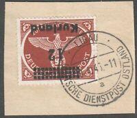 Latvia ( Kurland ) Germany 1945 Mi 4AK, Error - Inverted overprint, Used