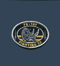 VFA-32 SWORDSMEN US NAVY BOEING F-18 F-18F SUPER HORNET RHINO Squadron Patch