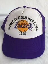 LA Los Angles Lakers Snapback Hat Mesh World Champions 1985