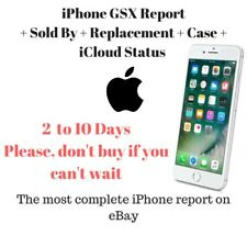 iPhone GSX Complete Report + iCloud Status + Replaced + Sold By + others Checks