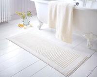 mat bath Extra Long 100 cotton washable bathroom mats soft 4 colours luxury new