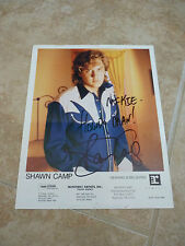 Shawn Camp Signed Autograph Promo Color Photo 8x10  Mike personalized