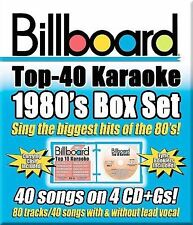 Billboard Top 40 Karaoke: 1980s [Box]  by Sybersound (CD,4 Disc) New