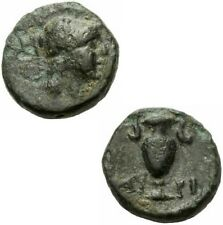 Myrina Aeolis Bronze 4./3. Jhdt. v. Chr. Athena Helm Amphora Aiolis BMC 23 ff.