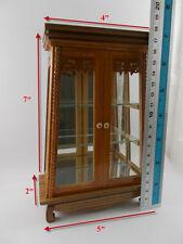 Small Vintage Teak Wood Cabinet Craft Handmade Carved Cupboard Furniture trapezo
