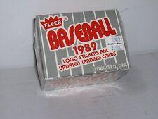 1989 Fleer Baseball Update Set 132 cards & 22 Logo Stickers
