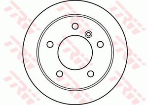 TRW Brake Rotor Rear DF4087S fits Volkswagen LT 28-35 2.5 TDI (2D) 61kw, 2.5 ...