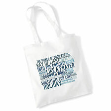 Art Studio Tote Bag MADONNA Lyrics Print Album Pop Poster Gym Beach Shopper Gift