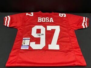 NICK BOSA SAN FRANCISCO 49'ERS SIGNED RED CUSTOM STITCHED JERSEY JSA COA