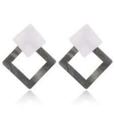 1 Pair Geometric Vintage Acrylic Triangle Stud Earrings for Women Jewelry Gift