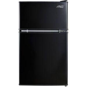 Arctic King 3.2 Cu ft Two Door Mini Fridge with Freezer, Black Free Shipp